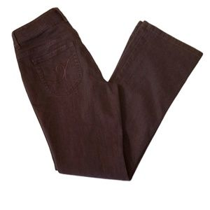 147 Chico's Additions Straight Leg Jeans in Brown